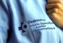 OSAKIDETZA TEMARIO ESPECÍFICO AUXILIAR ADMINISTRATIVO/A